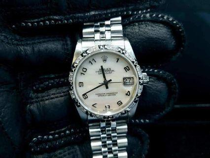 PREOWNED ROLEX Datejust, 68274 White Rolesor, Oystersteel and White Gold, 31mm, Mid/Boy-size, U Series @ Year 2006 Unisex Watch