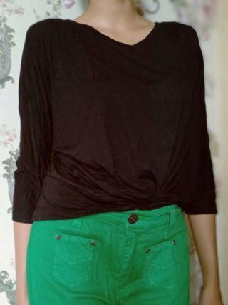Casual Black T Shirt Branded LOGO