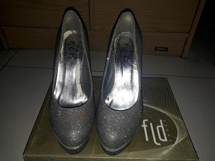 Grey Sparkle High Heels (jual murah)