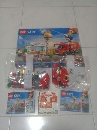 Lego 60214 Fire Truck and Motorcycle only (NEW)