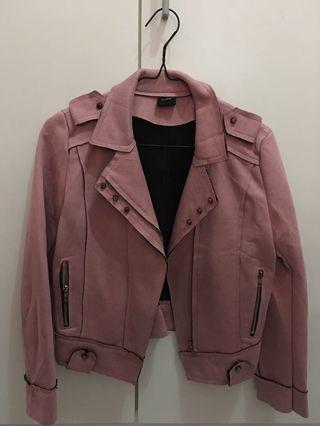 Magnolia Suede Leather Jacket