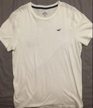 Hollister logo graphic tee in white