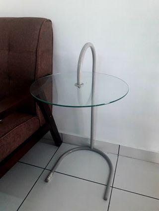 Table: glass side table