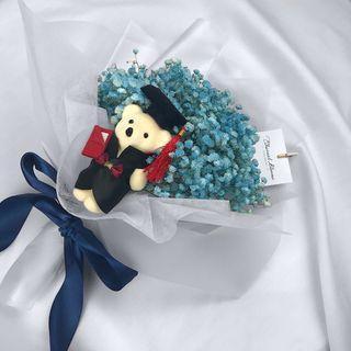 Blue Baby's Breath Bouquet