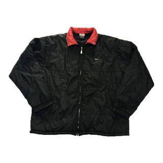 古著 Nike Alpha Project 紅領黑色風衣外套
