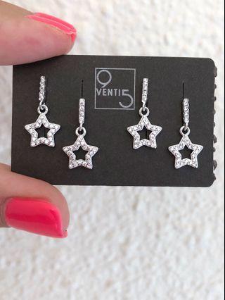 Italian Pavè star earrings