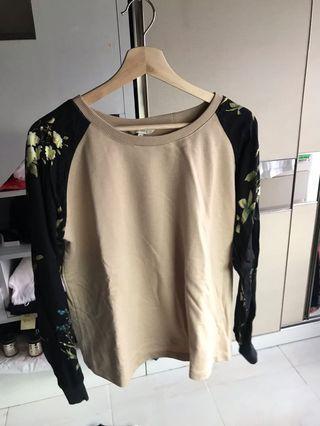 Sweater Coklat Bunga Et Cetera