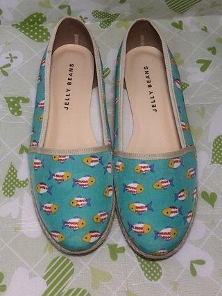 二手jelly beans平底鞋