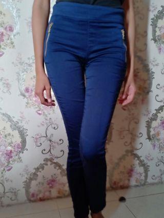 Long Pants Jegging Navy Blue Stradivarius