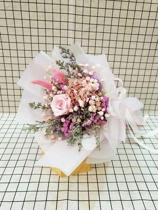 (DF02) Everlasting love - Dried Flowers Bouquet