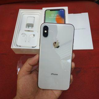 Iphone x 256gb silver mulus fullset