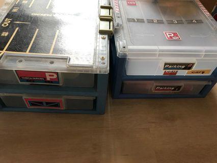 Tomica car storage boxes