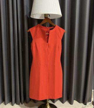 ZARA Woman Red Party Office Dress