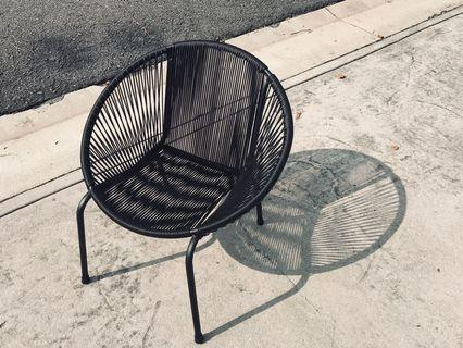 Modern Retro Designer String Chair Black