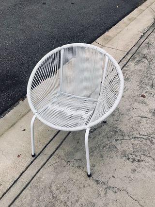 Modern Retro Designer String Chair White