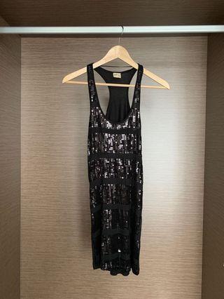 Pull&Bear Xdye Black Sequin Dress