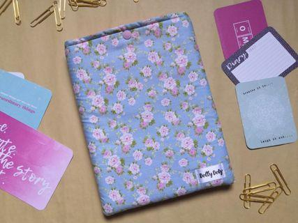 Padded Handmade Booksleeve Pink Blue