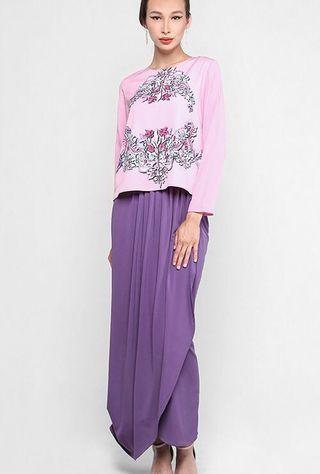 Mimpikita Drape Skirt in Purple (L)