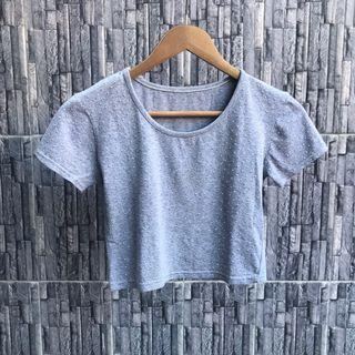 SALE Gray Studded Crop Top