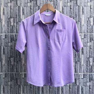SALE Violet Textured Shirt