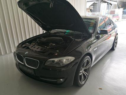 BMW 520I F10 exhaust systems cleaned
