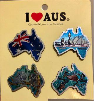 4pc Australia Fridge Magnet