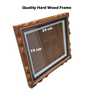 Quality Solid Hard Wood with Inner Blue Frame