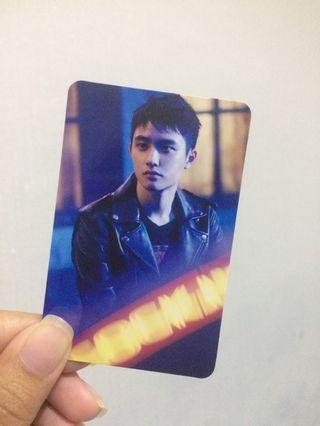 official photocard d.o coming over japan