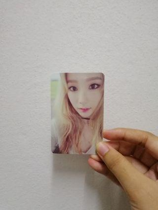 TAEYEON 'I' OFFICIAL PHOTOCARD