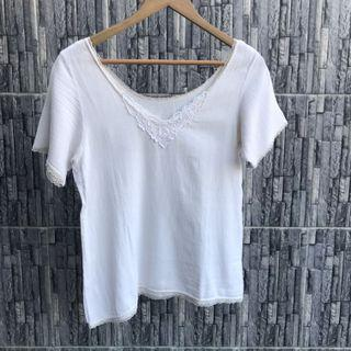 White Flower Lacey Top