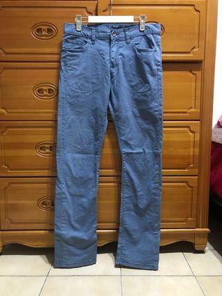 NET 藍色休閒直筒褲