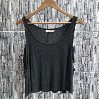 Pull&Bear Smoky Gray Tank Top