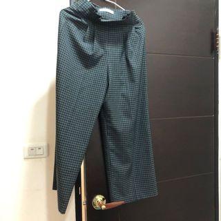 格子寬褲(Zara購入)