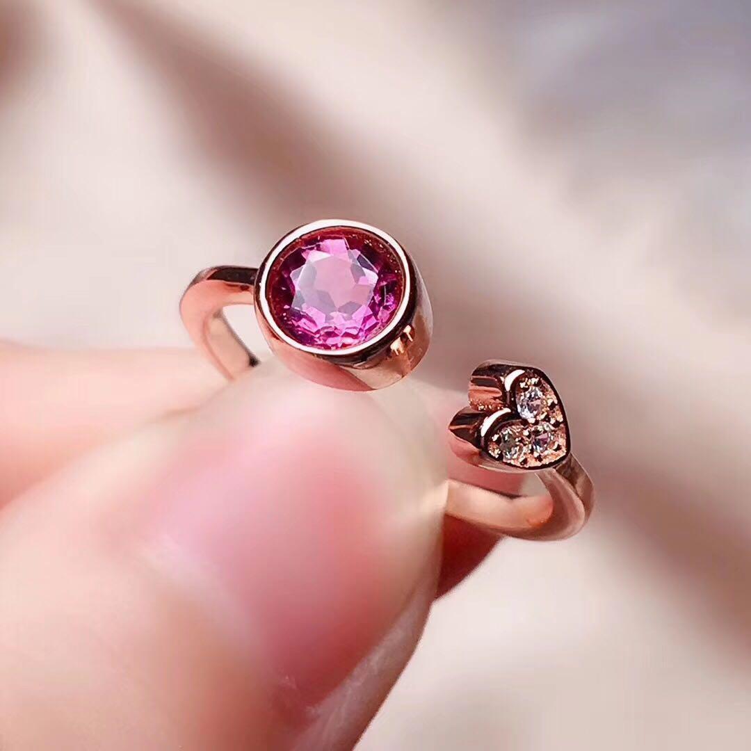天然 火彩 碧璽 戒指 火光佳 晶體通透 精工鑲嵌 滿火彩