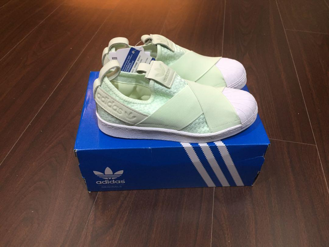 Adidas SS Slipon 襪套式 蘋果綠