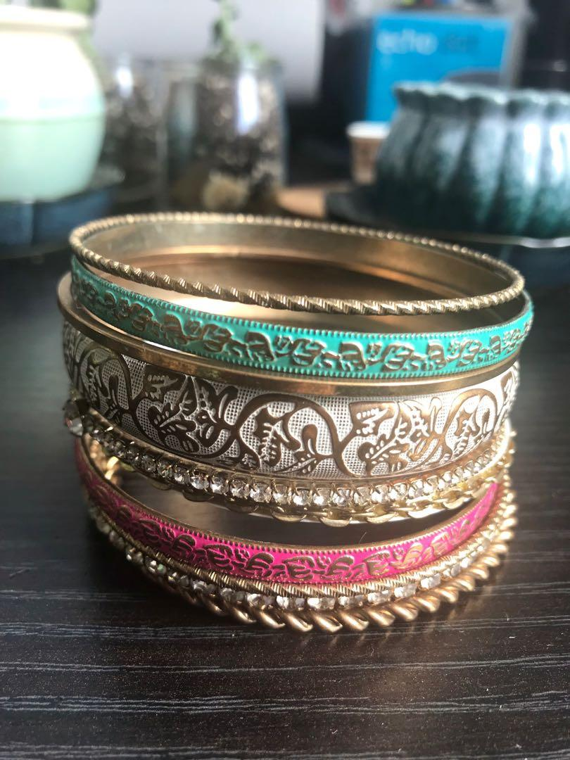 Anthropologie Gold Bangles