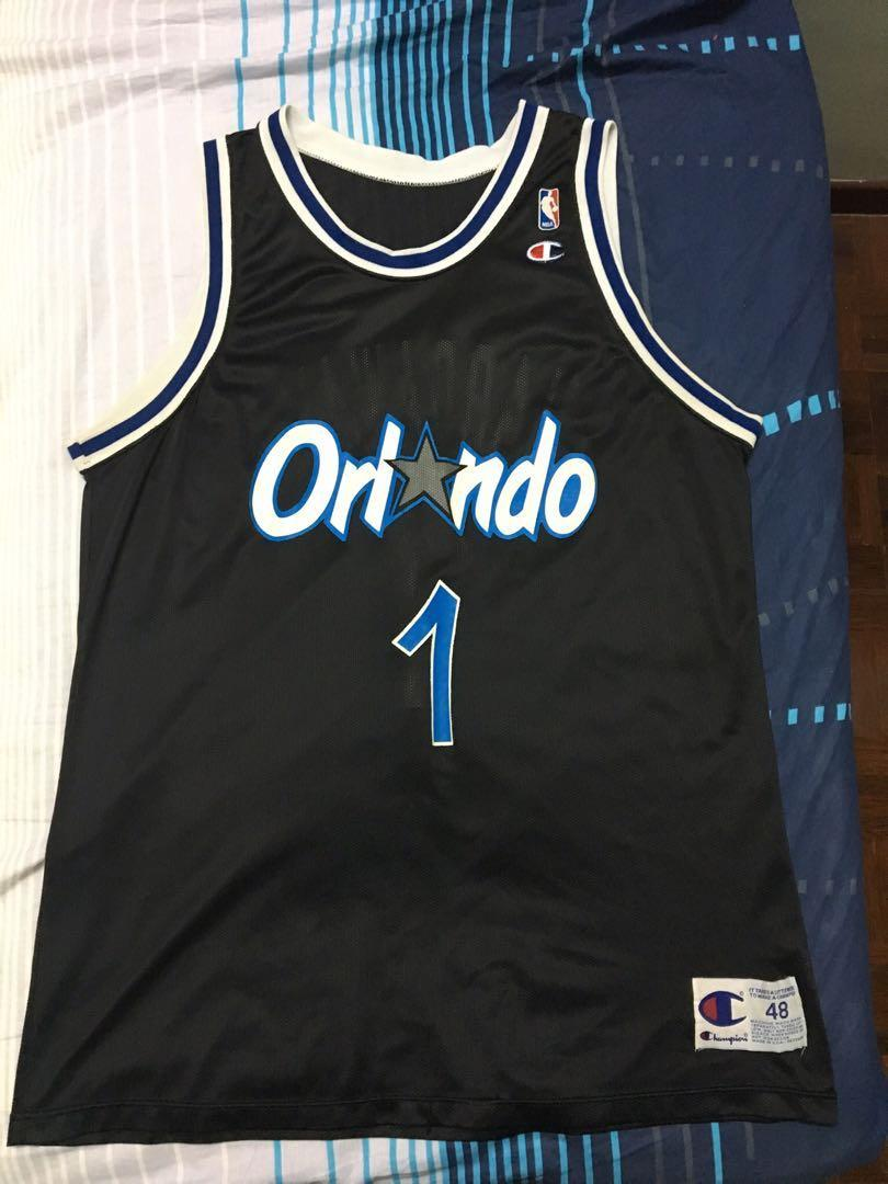 sports shoes 46b91 7f45c Champion Nba Basketball Orlando Magic Penny Hardaway jersey ...
