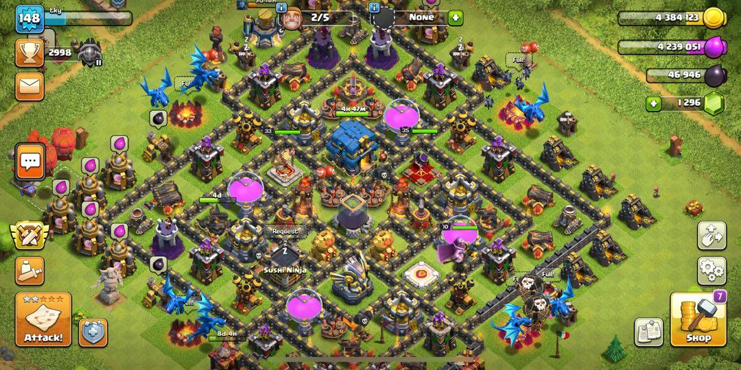 coc account th12