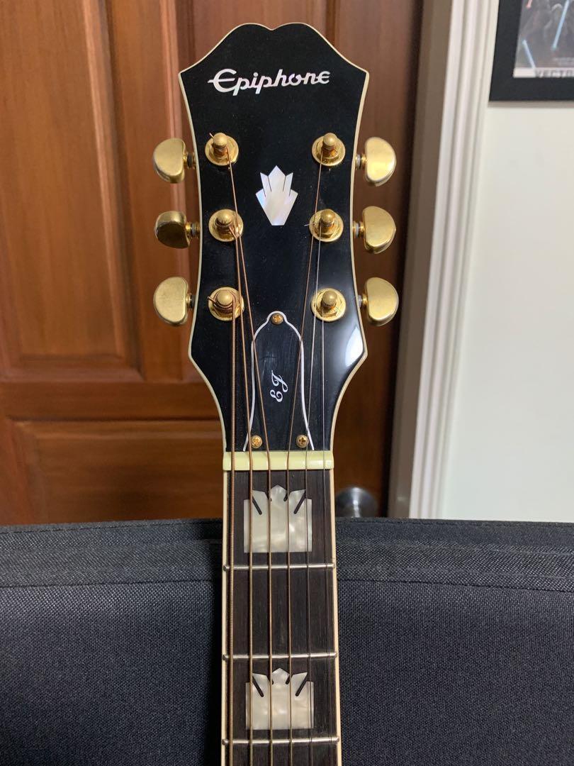 Epiphone EJ-200SCE Acoustic/Electric guitar, RW neck, Black