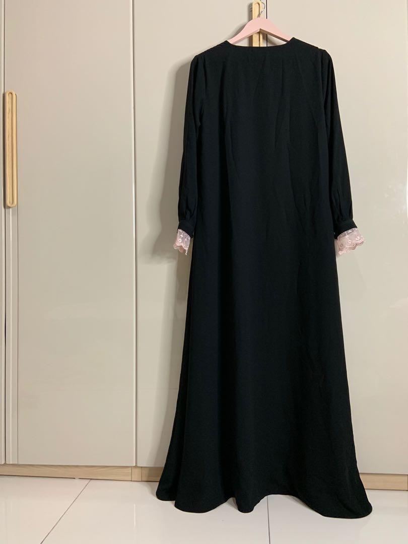 Gamis Abaya Hitam Arab Model Hijab Terbaru