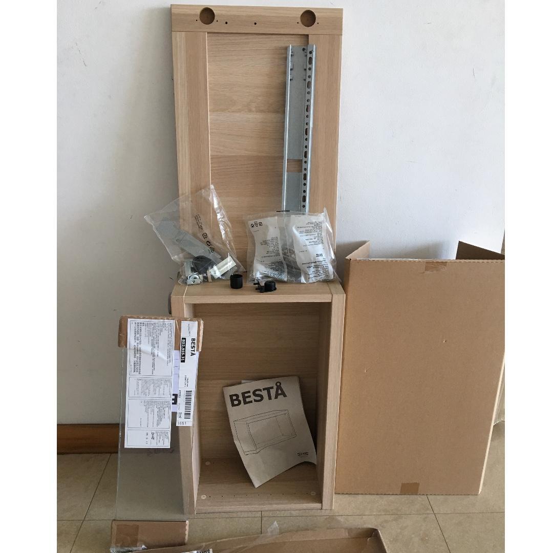 Ikea Besta Oak Stained Shelf Furniture Shelves Drawers