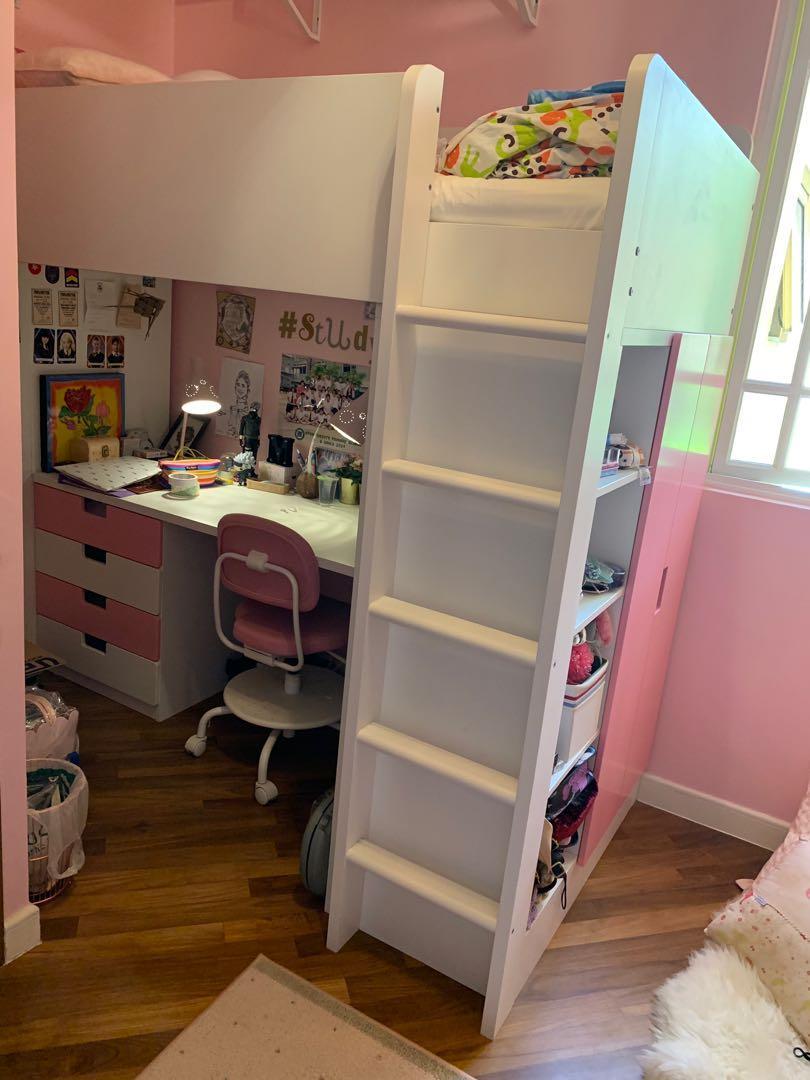 Ikea Princess Loft Bed Study Furniture Beds Mattresses On Carousell