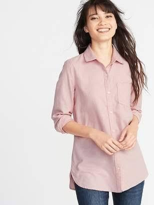 Kemeja Polos Big Size Peach / Coral Flannel Full Katun Original Old Navy