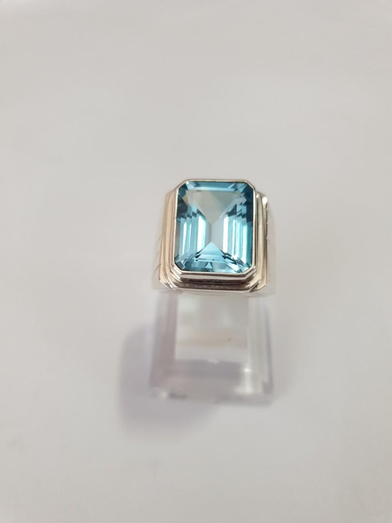 Natural Swiss Topaz on 925 HandMade Silver Ring