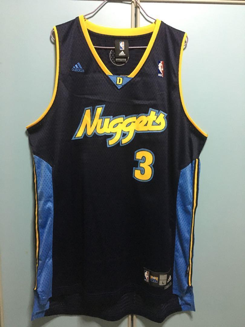 quality design 4a0e4 76a95 Nba Adidas Denver Nuggets Allen Iverson swingman Jersey L ...