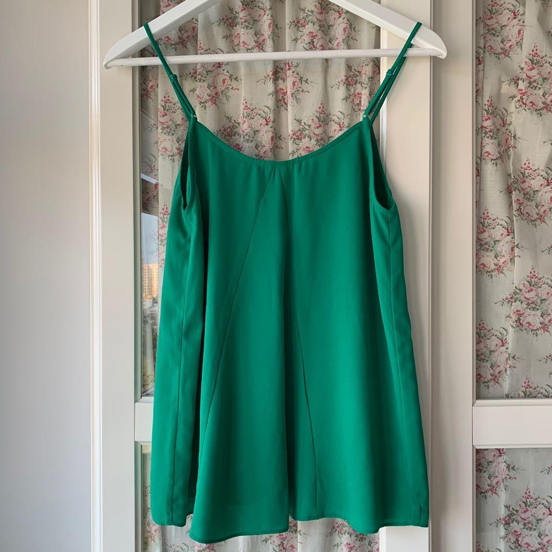 Oasis green spaghetti strap top