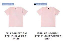 [OFFICIAL] BT21 PINK COLLECTION SHORT SLEEVE T-SHIRTS