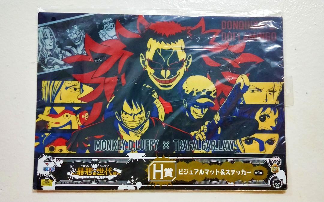 One Piece Luffy x Trafalgar Law A3 Poster/Underlay