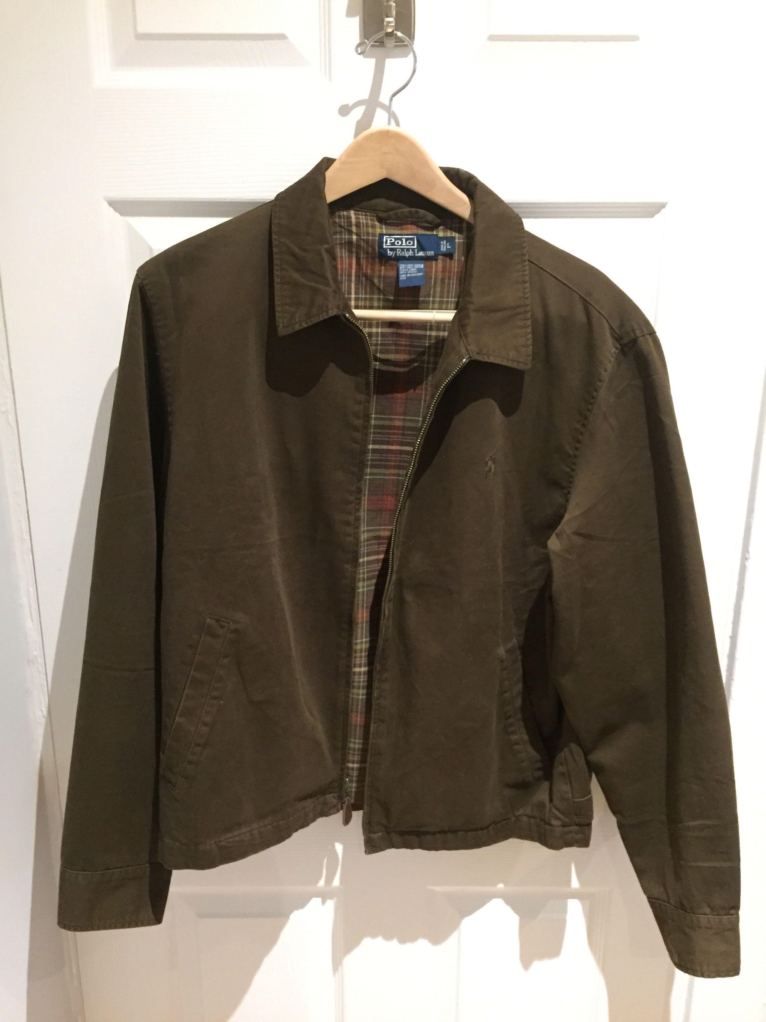 Polo Ralph Lauren Brown Zip-Up Jacket - Size: Large
