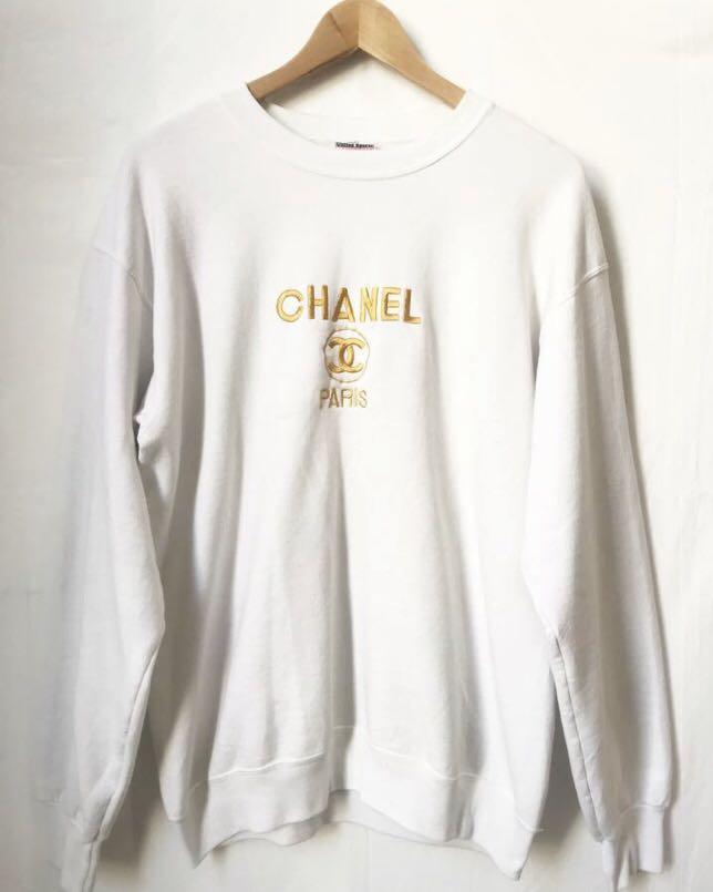 Rare Vintage Bootleg Chanel sweatshirt in white